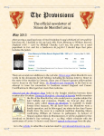 Provisions Newsletter May 2013