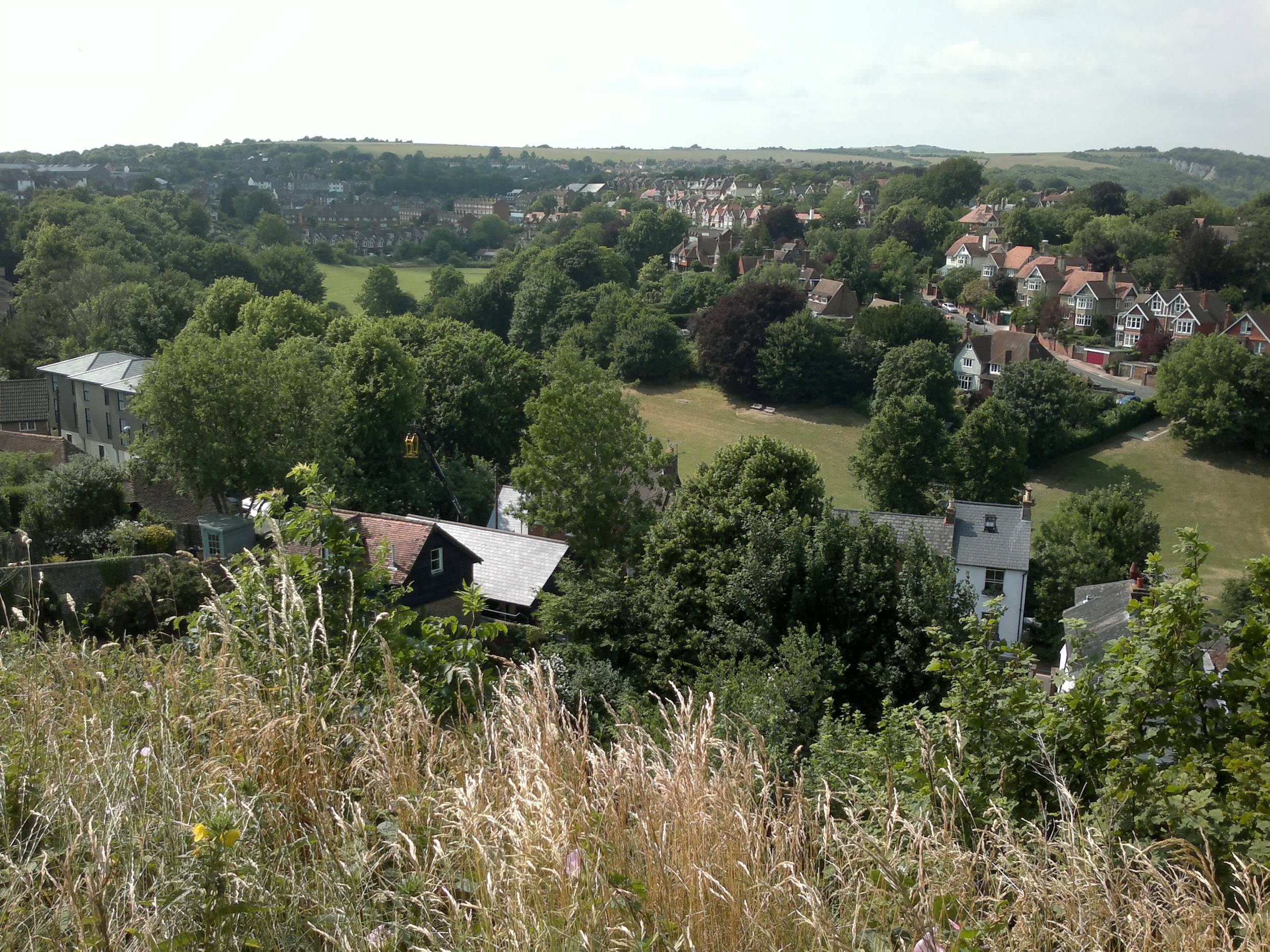 The Downs, where Montfort's troops appeared on the slope