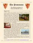 Provisions Newsletter August 2013