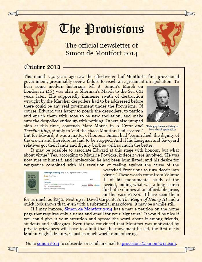 Provisions Newsletter October 2013
