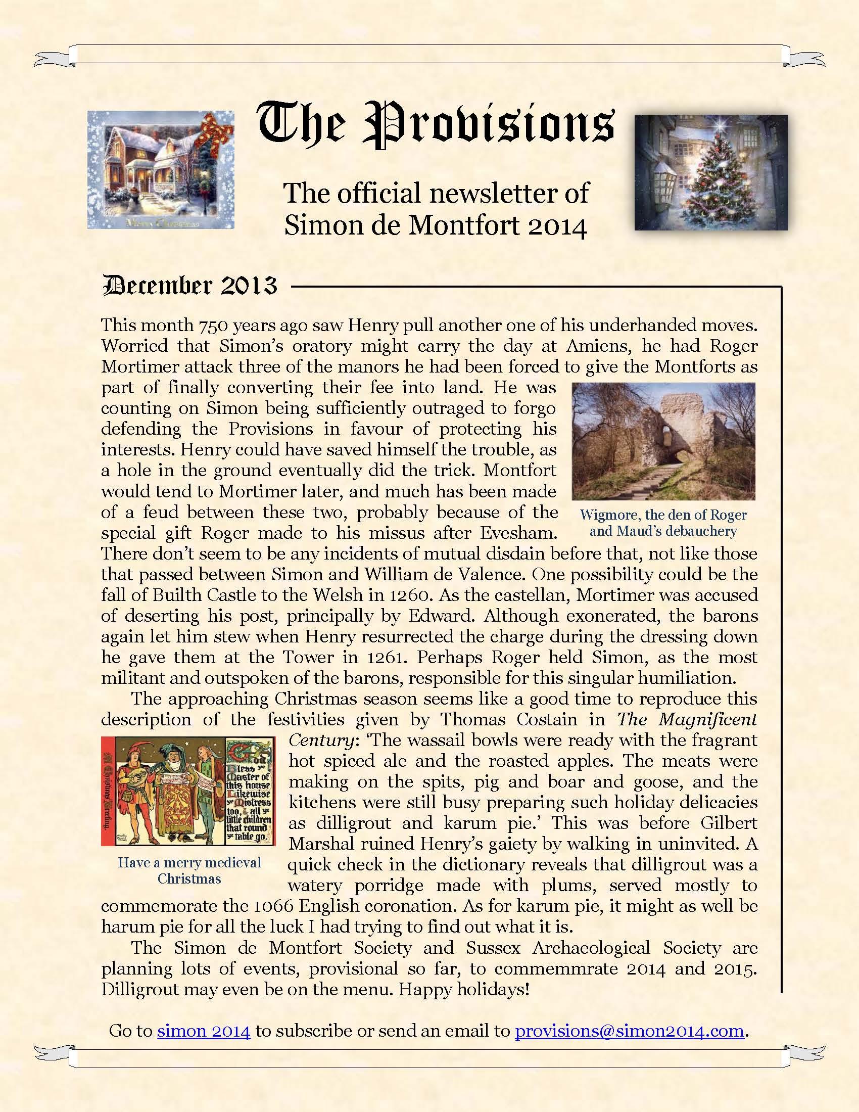 Provisions Newsletter December 2013