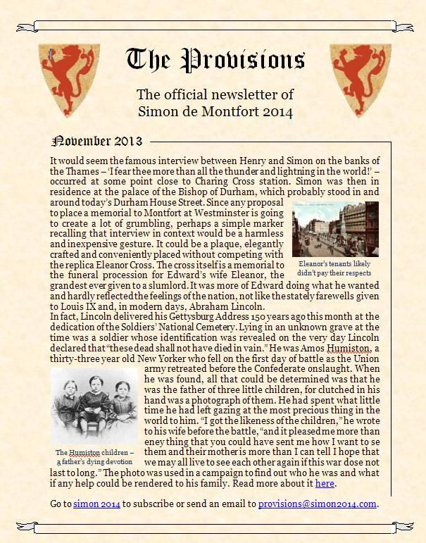 Provisions Newsletter November 2013