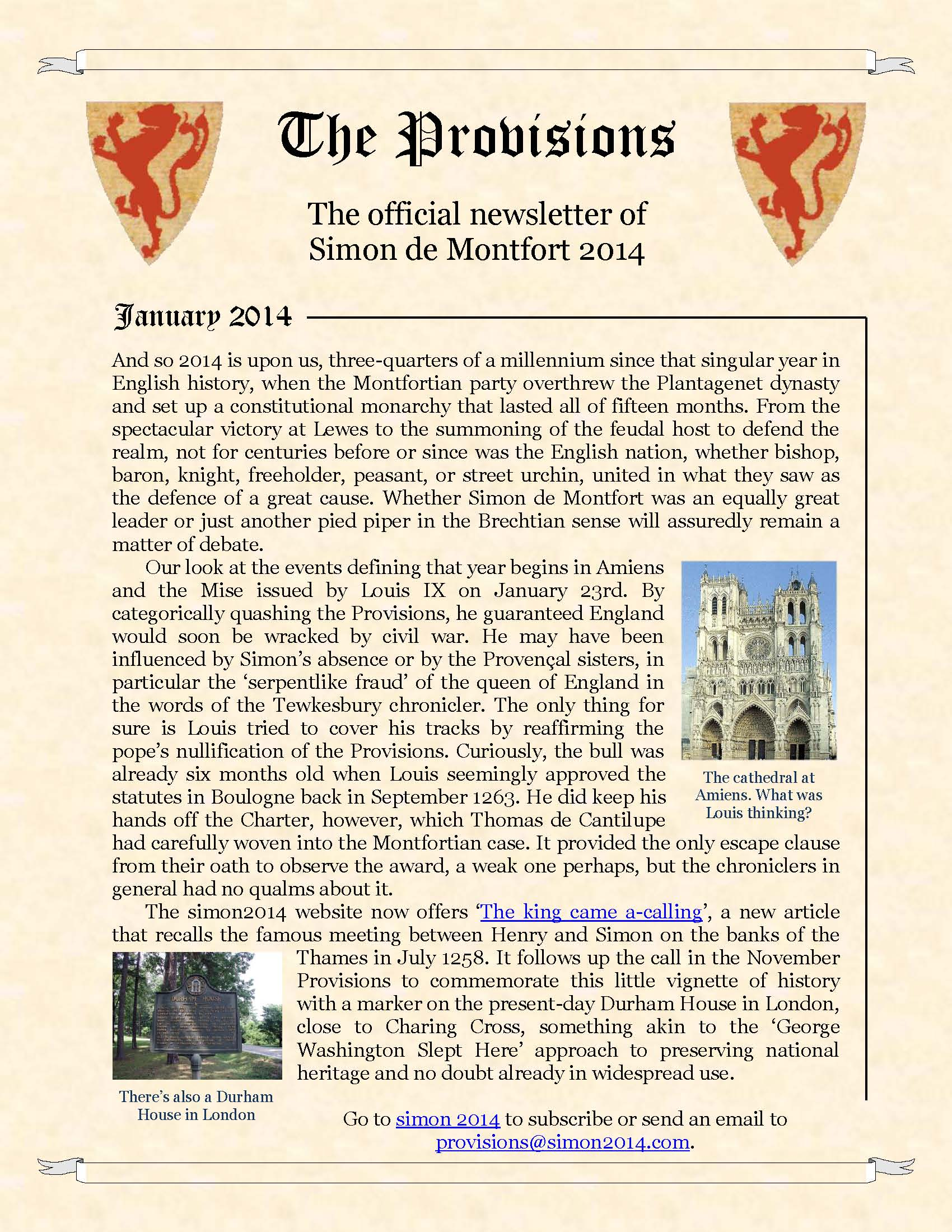 Provisions Newsletter January 2013