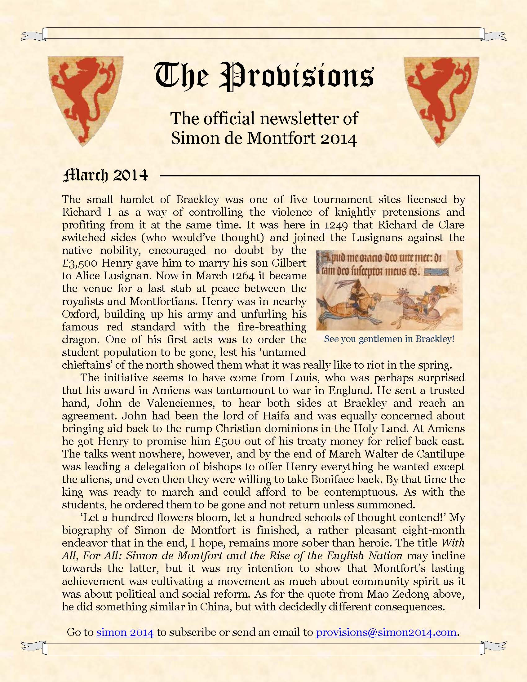 Provisions Newsletter May 2014