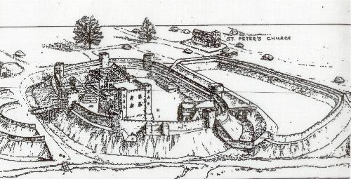 Northampton Castle - the prior gave it away