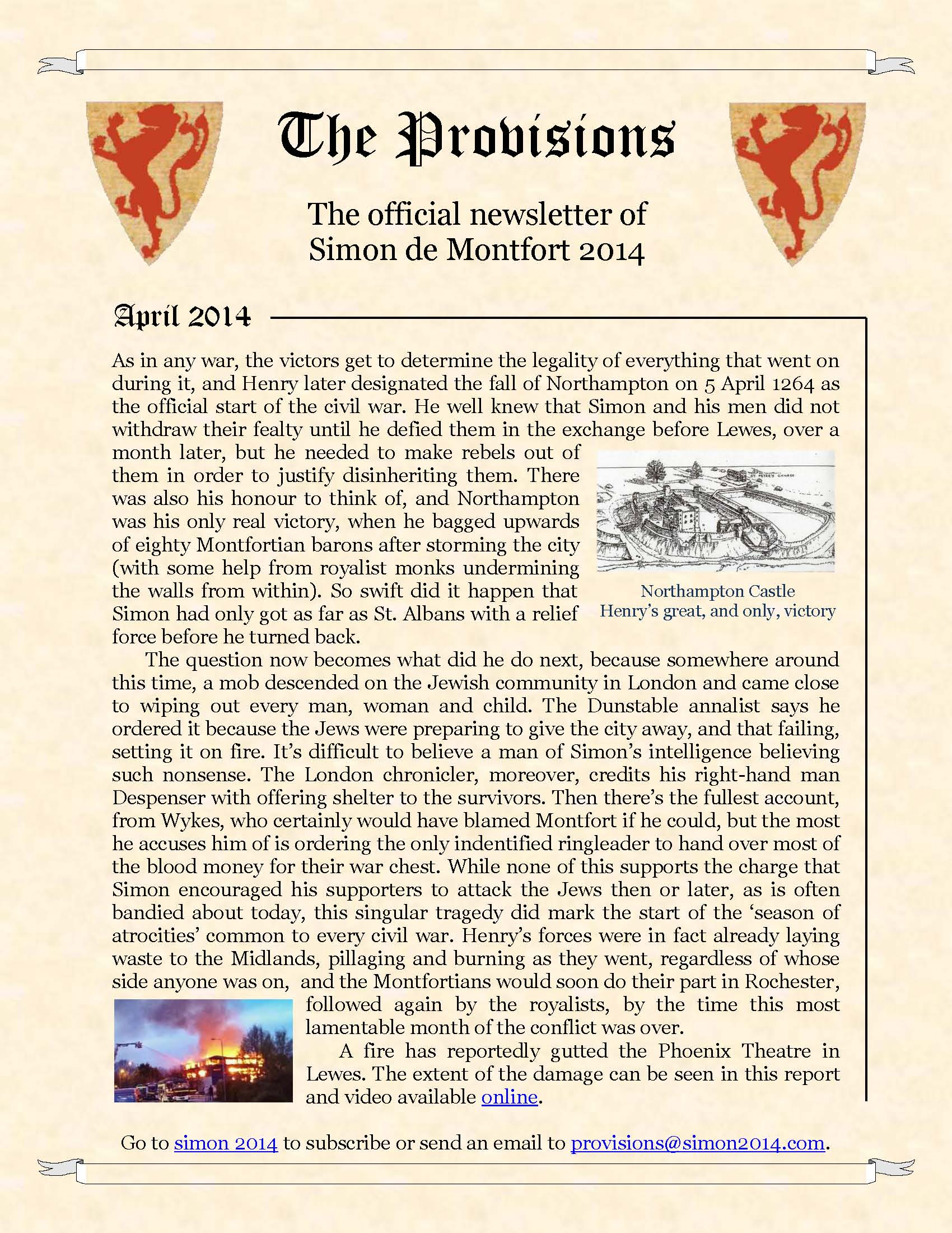 Provisions Newsletter April 2014