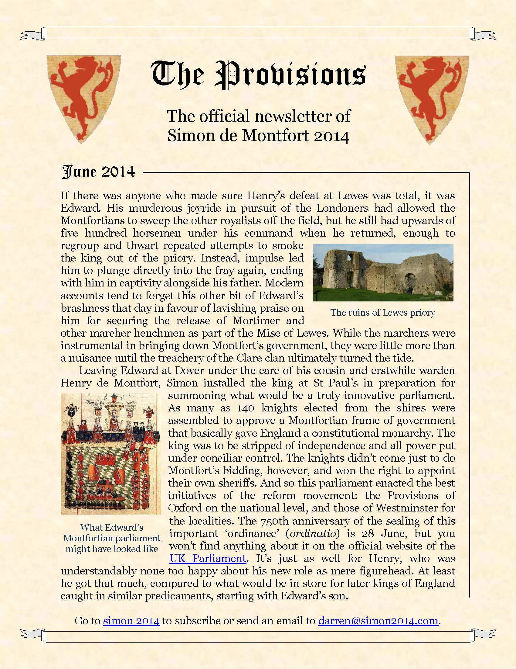 Provisions Newsletter June 2014