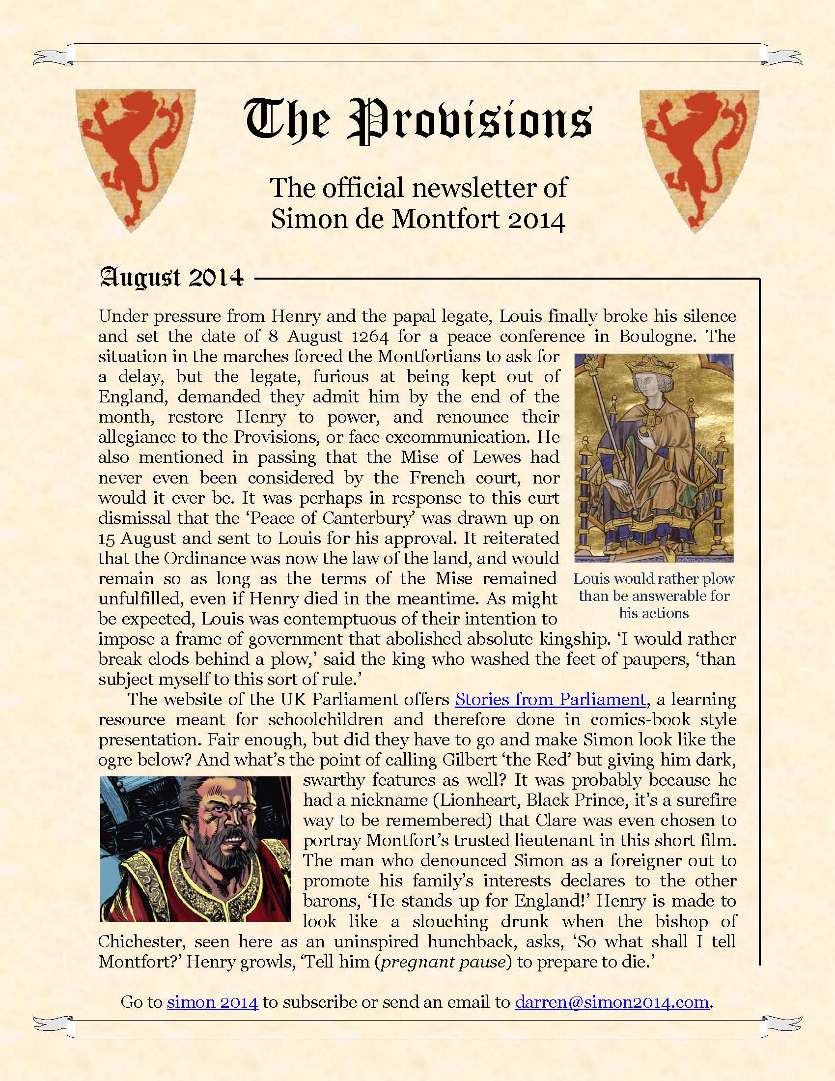 Provisions Newsletter August 2014