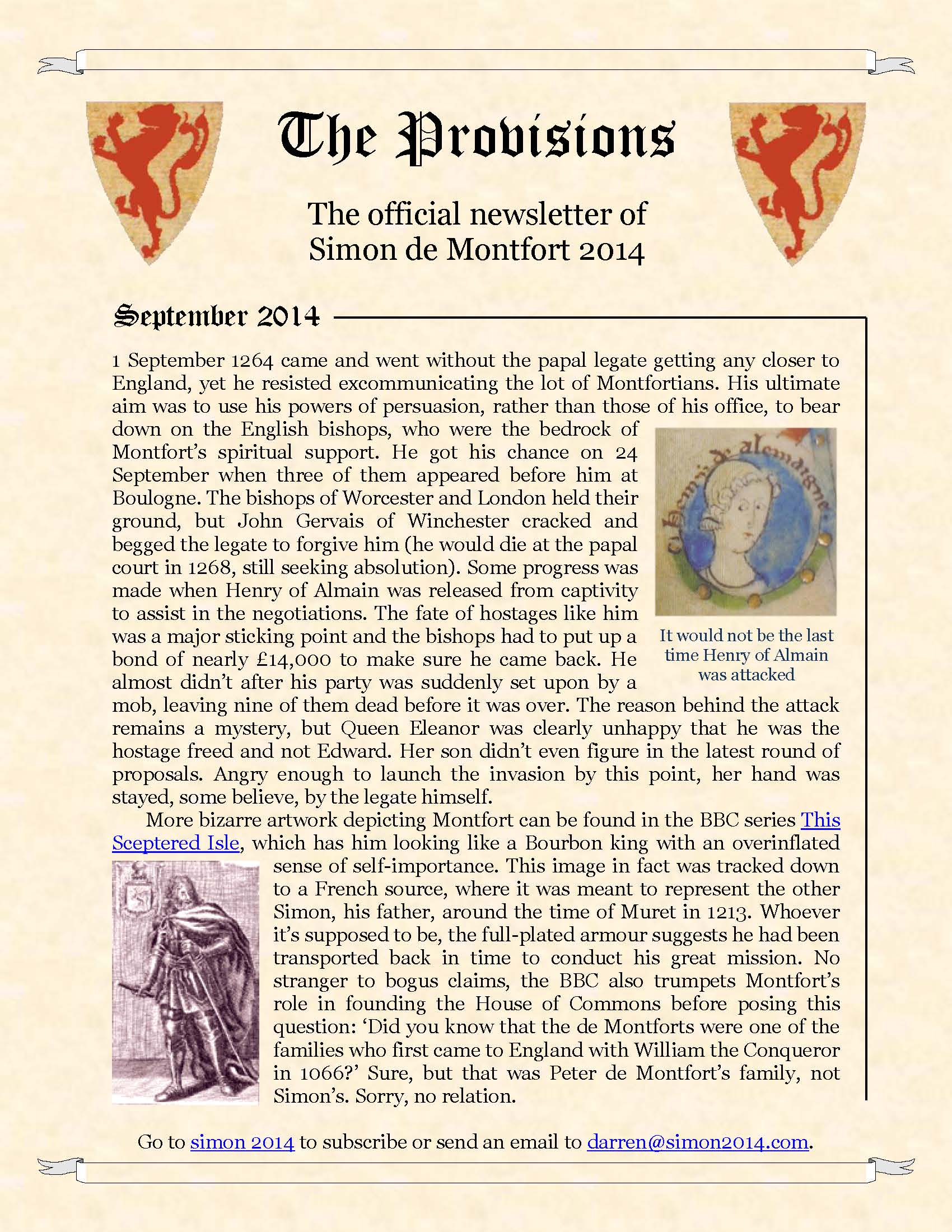 Provisions Newsletter September 2014