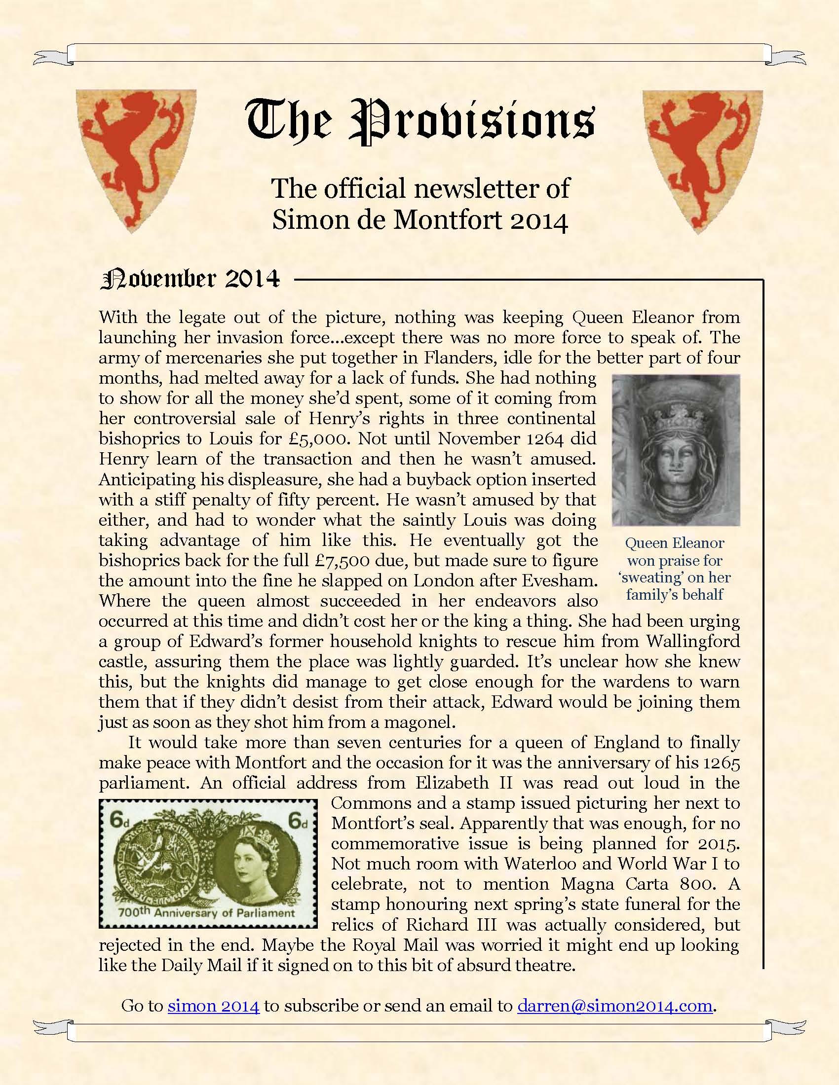 Provisions Newsletter November 2014
