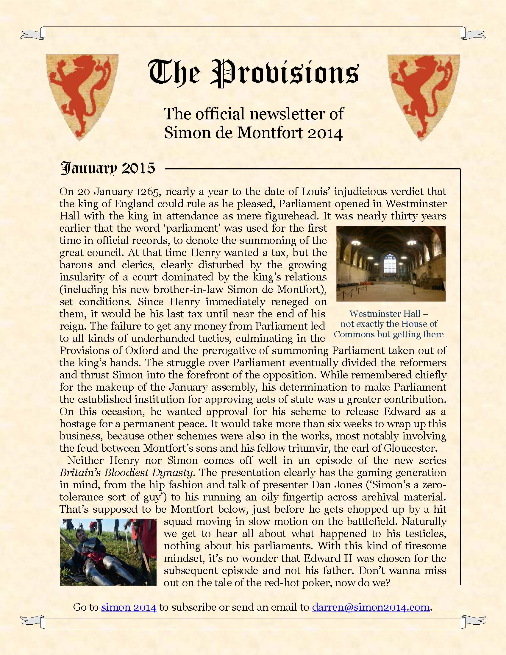 Provisions Newsletter January 2015
