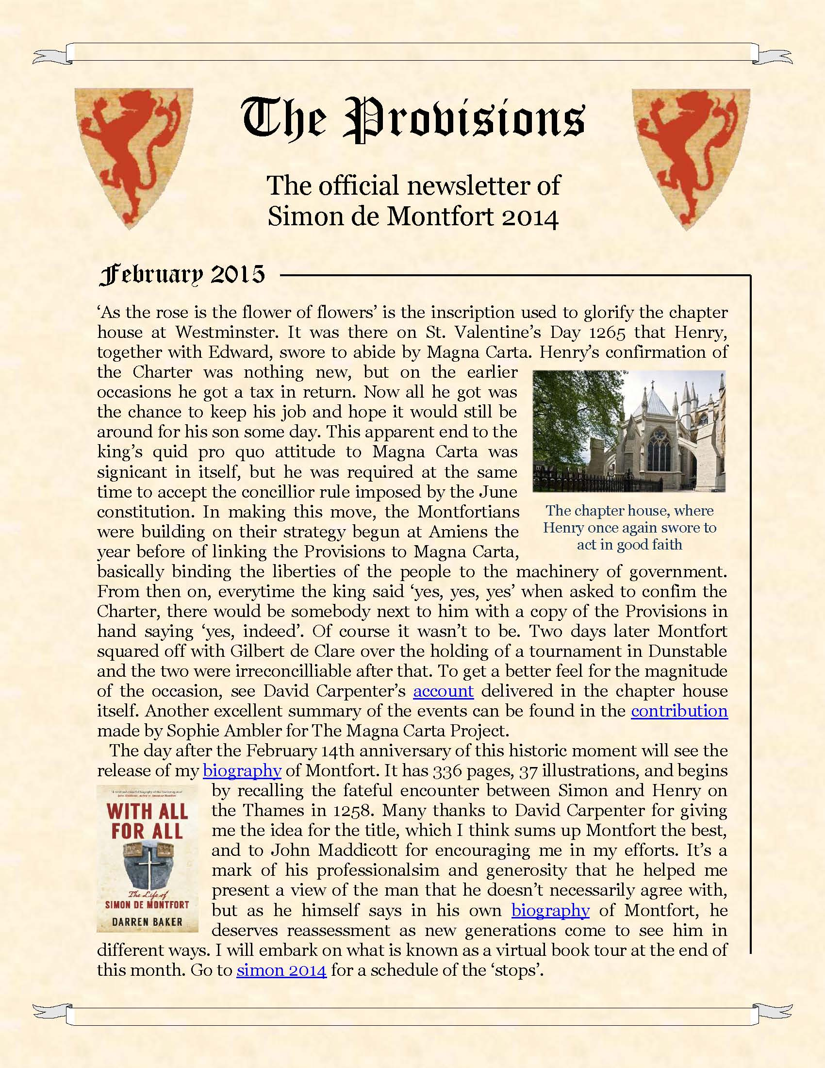 Provisions Newsletter February 2015
