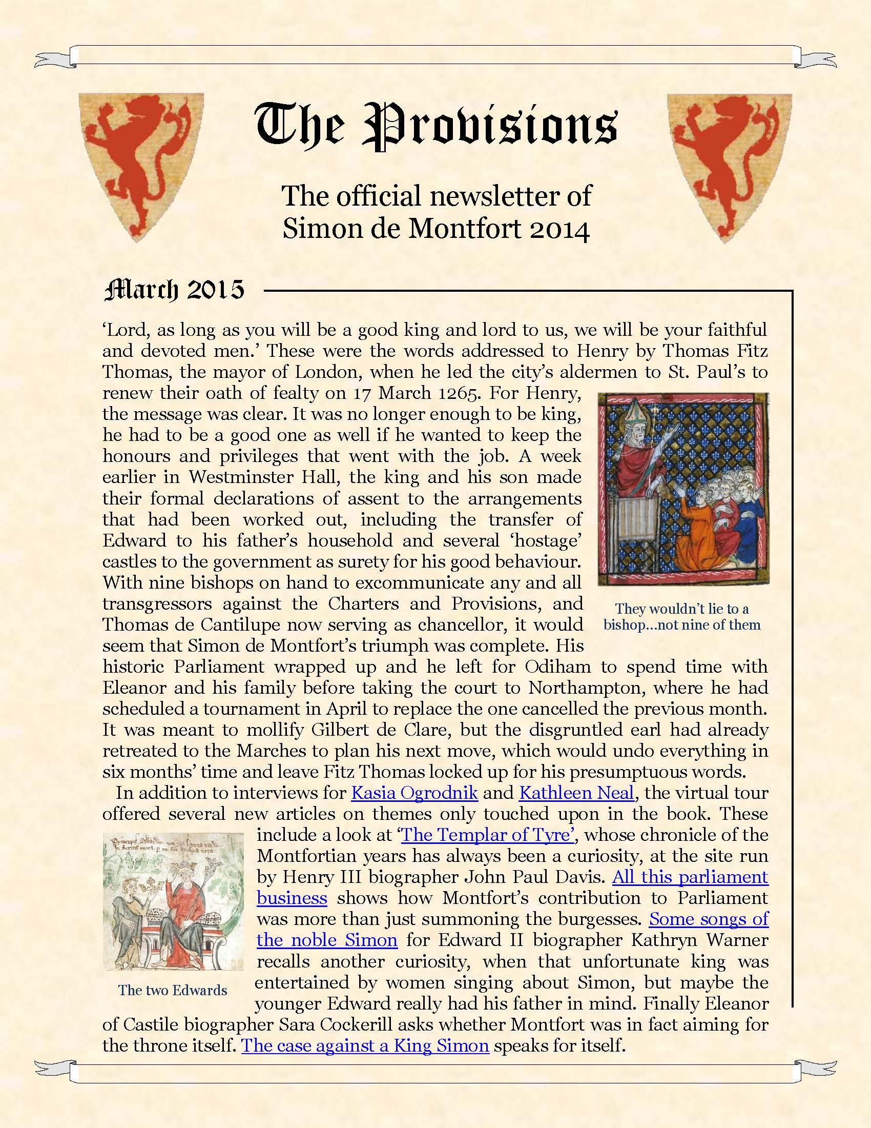 Provisions Newsletter March 2015