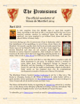 Provisions Newsletter April 2013