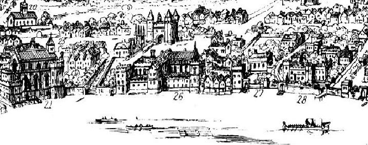 Durham at 26 on the Thames, Savoy at 27 during the Tudor period