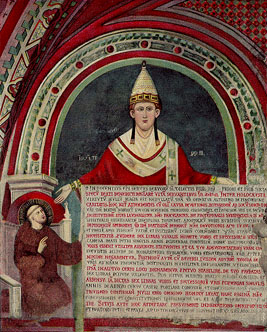 Innocent III at the cloister Sacro Speco