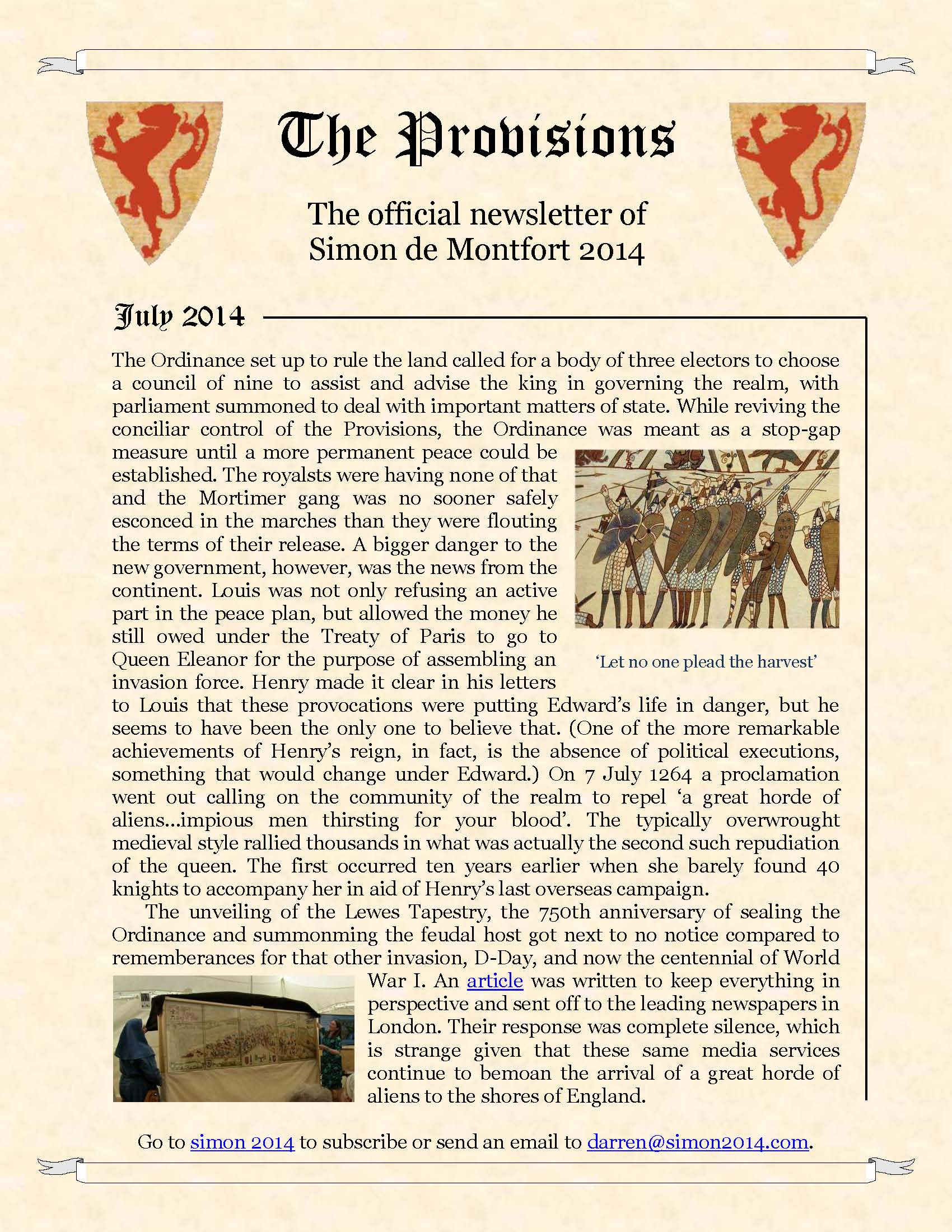 Provisions Newsletter July 2014