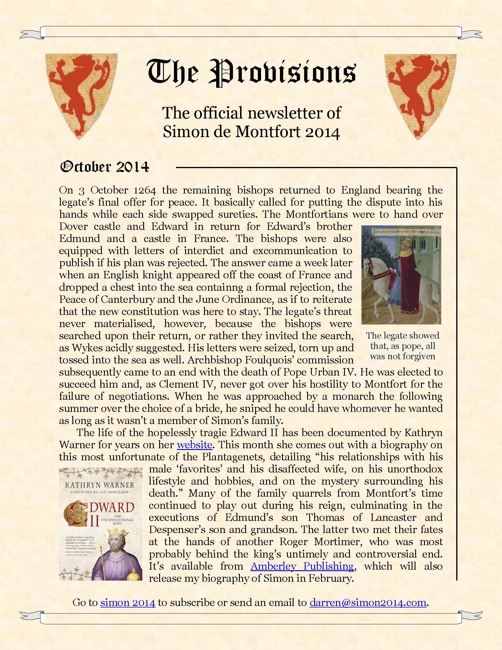 Provisions Newsletter October 2014